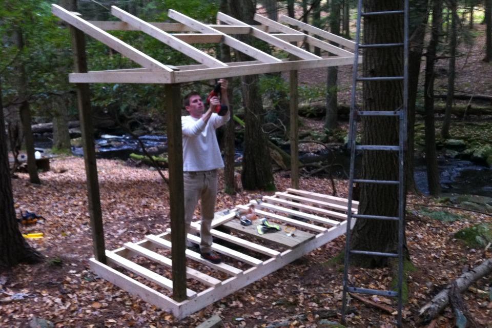 Построить дровяник на даче