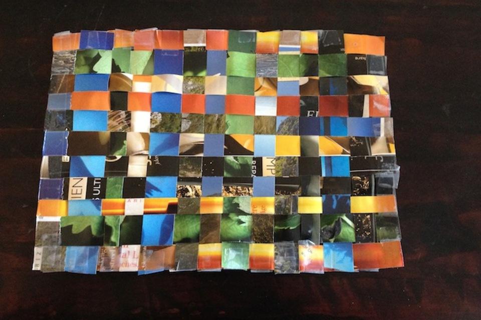 Paper-craft woven mat - DIY