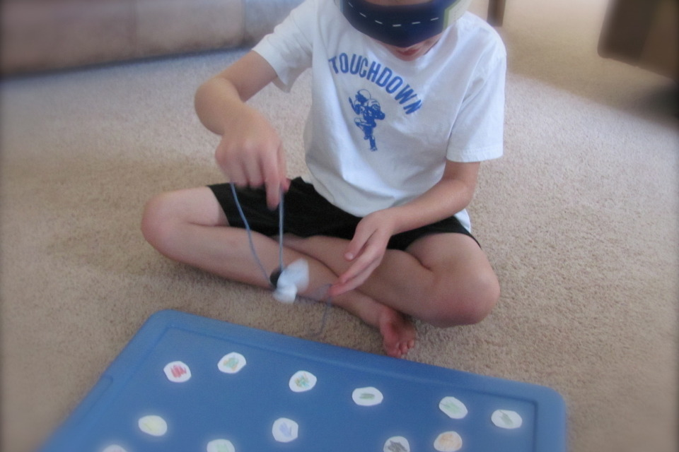 how to make a homemade magnetic fishing game