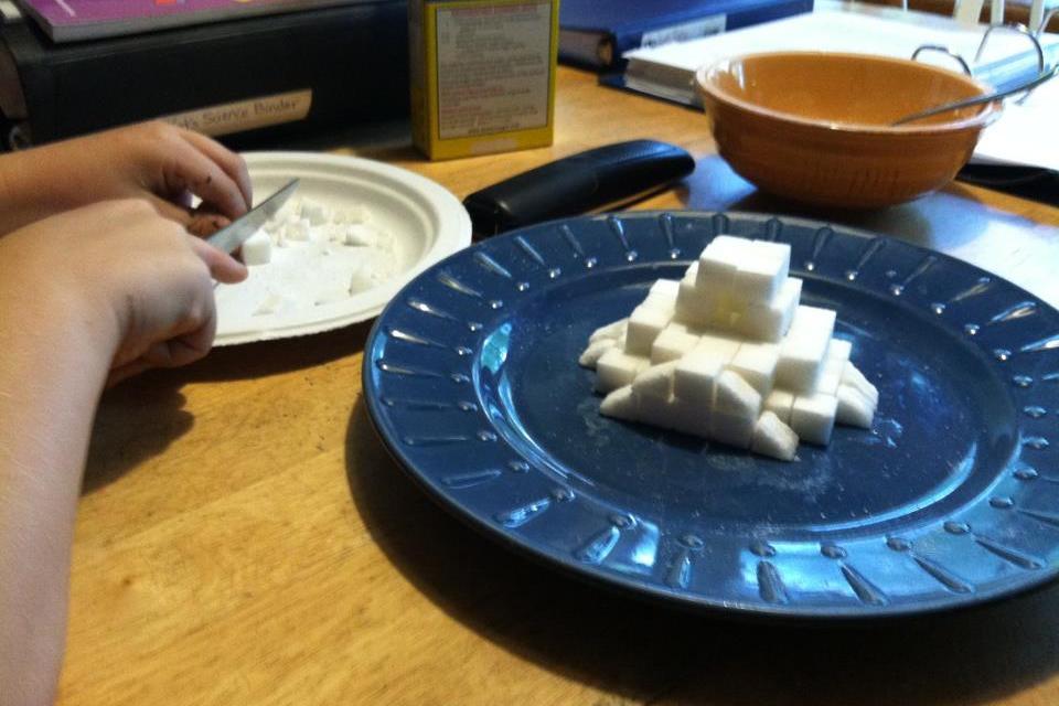 sugar-cube ziggurat