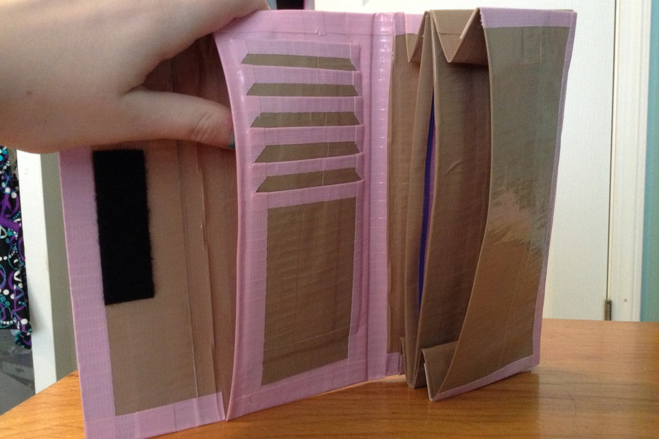 duct tape womens wallet diy
