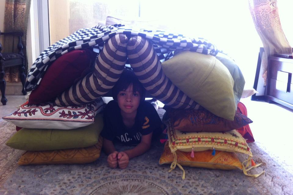 Indoor Pillow Fort Diy