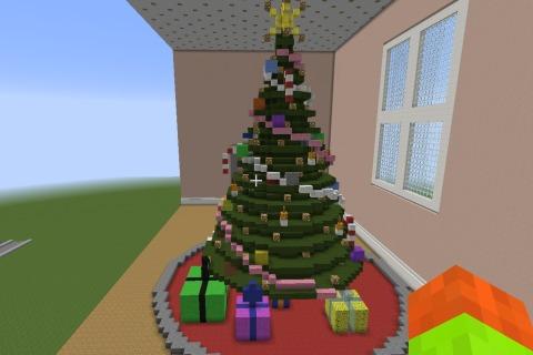 Minecraft Christmas Tree with help - DIY