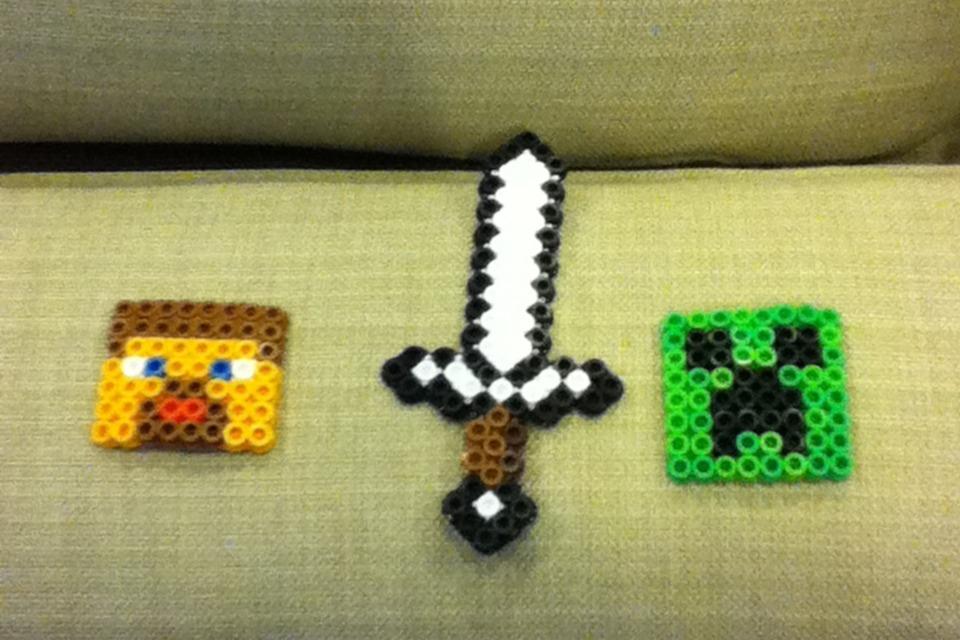 Minecraft Perler Beads Diy