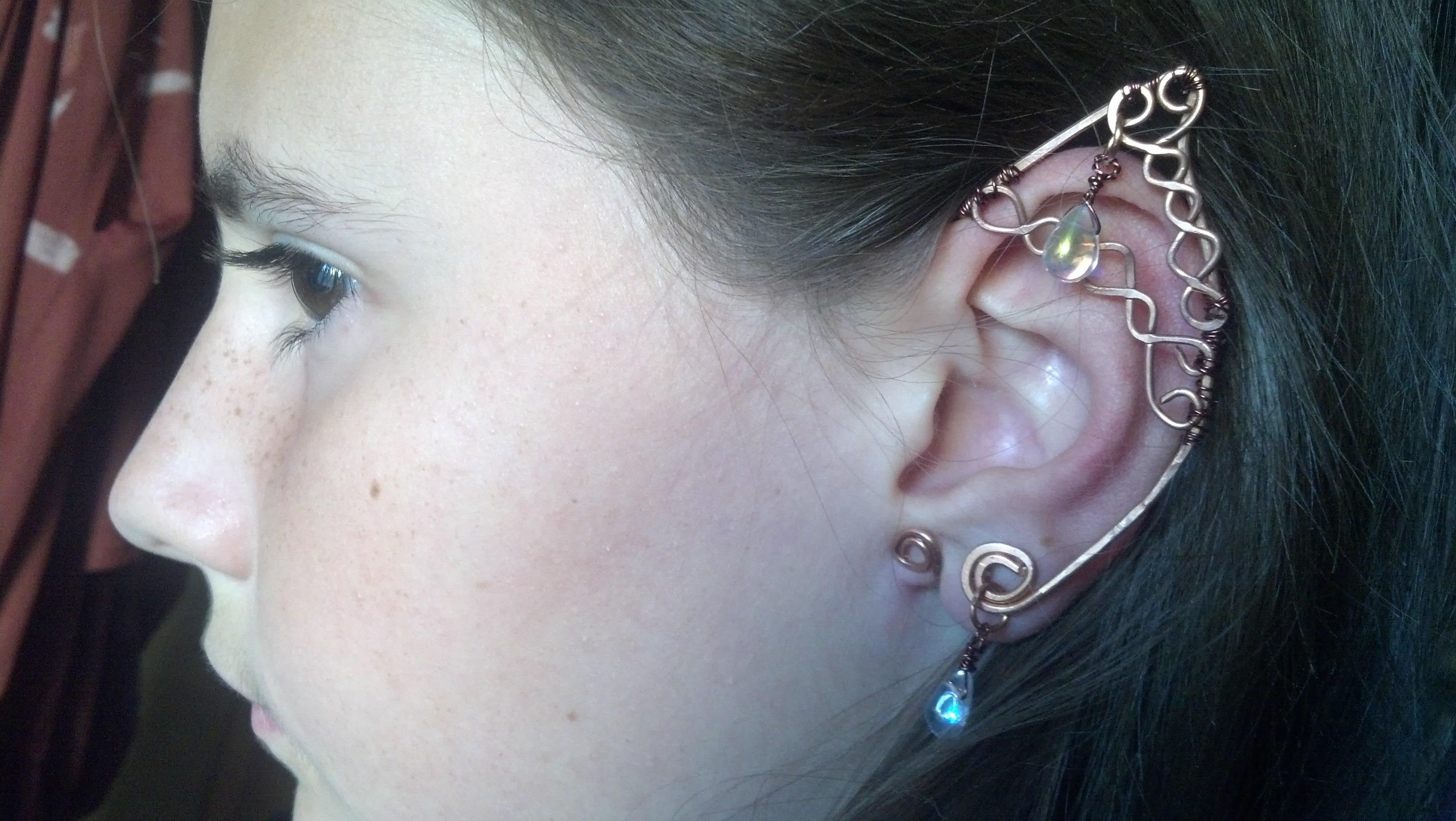I made wire work elven ear cuffs - DIY