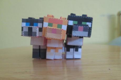 Minecraft Papercraft Cats Minecraft Papercraft Cats