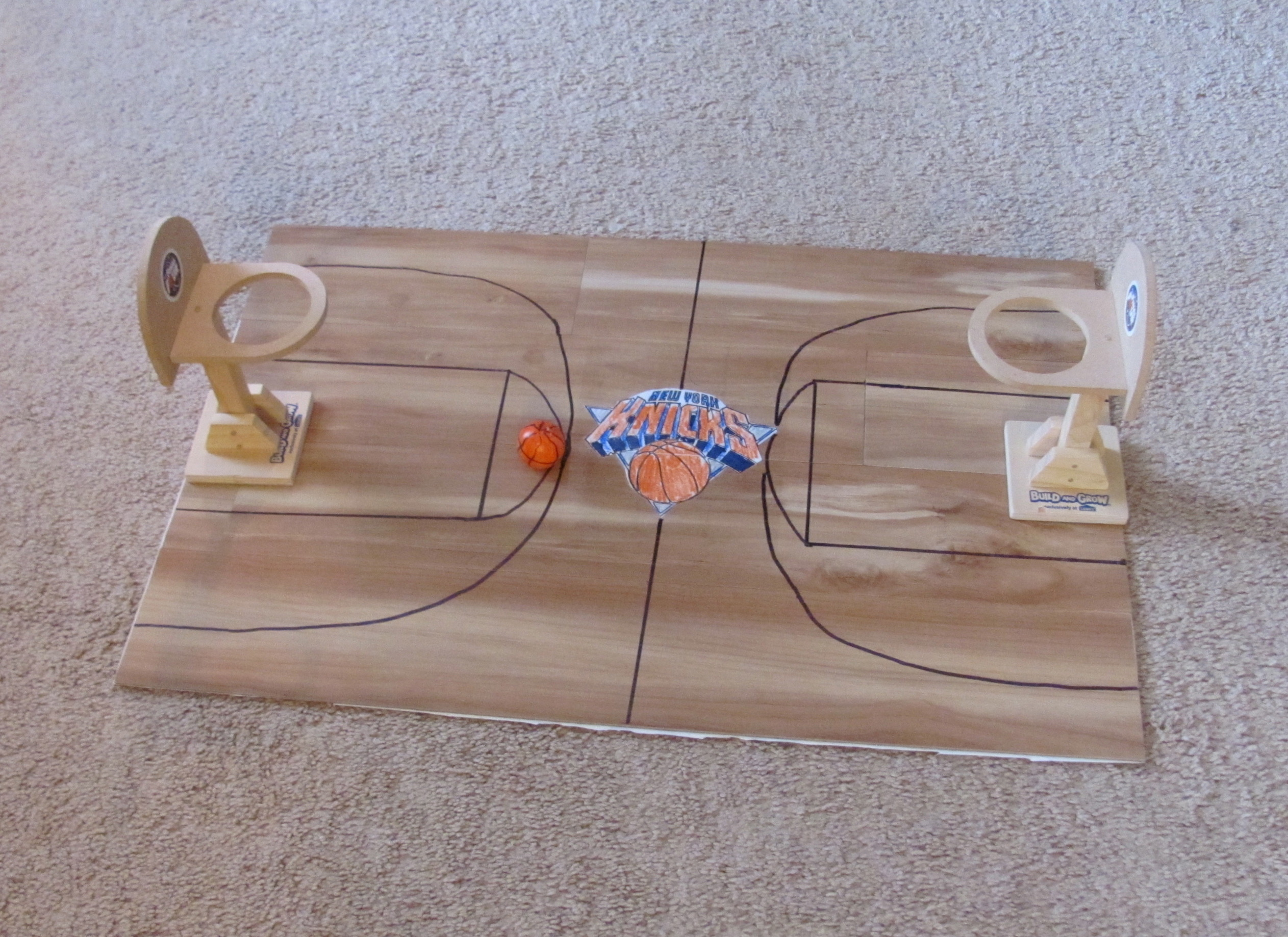Miniature toy basketball court diy for Making a basketball court