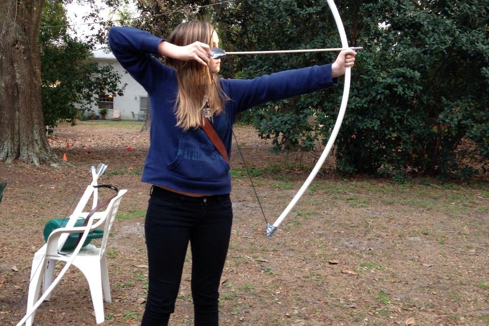 My pvc bow diy for Kids pvc bow