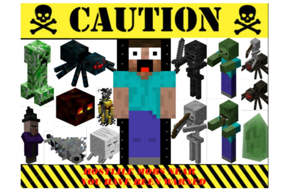 Fake Minecraft Sign DIY