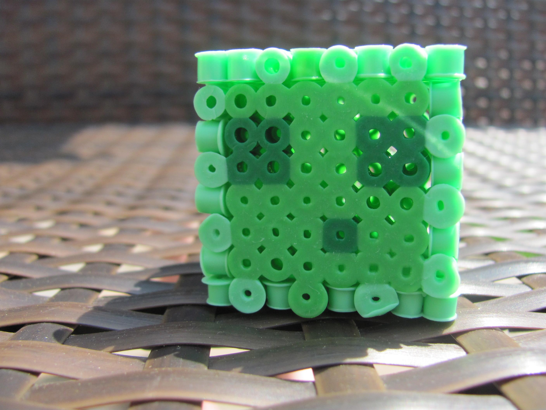 3d perler bead minecraft slime diy