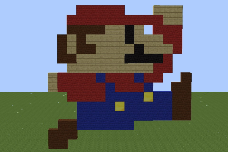 Minecraft Mario Pixel Art   DIY