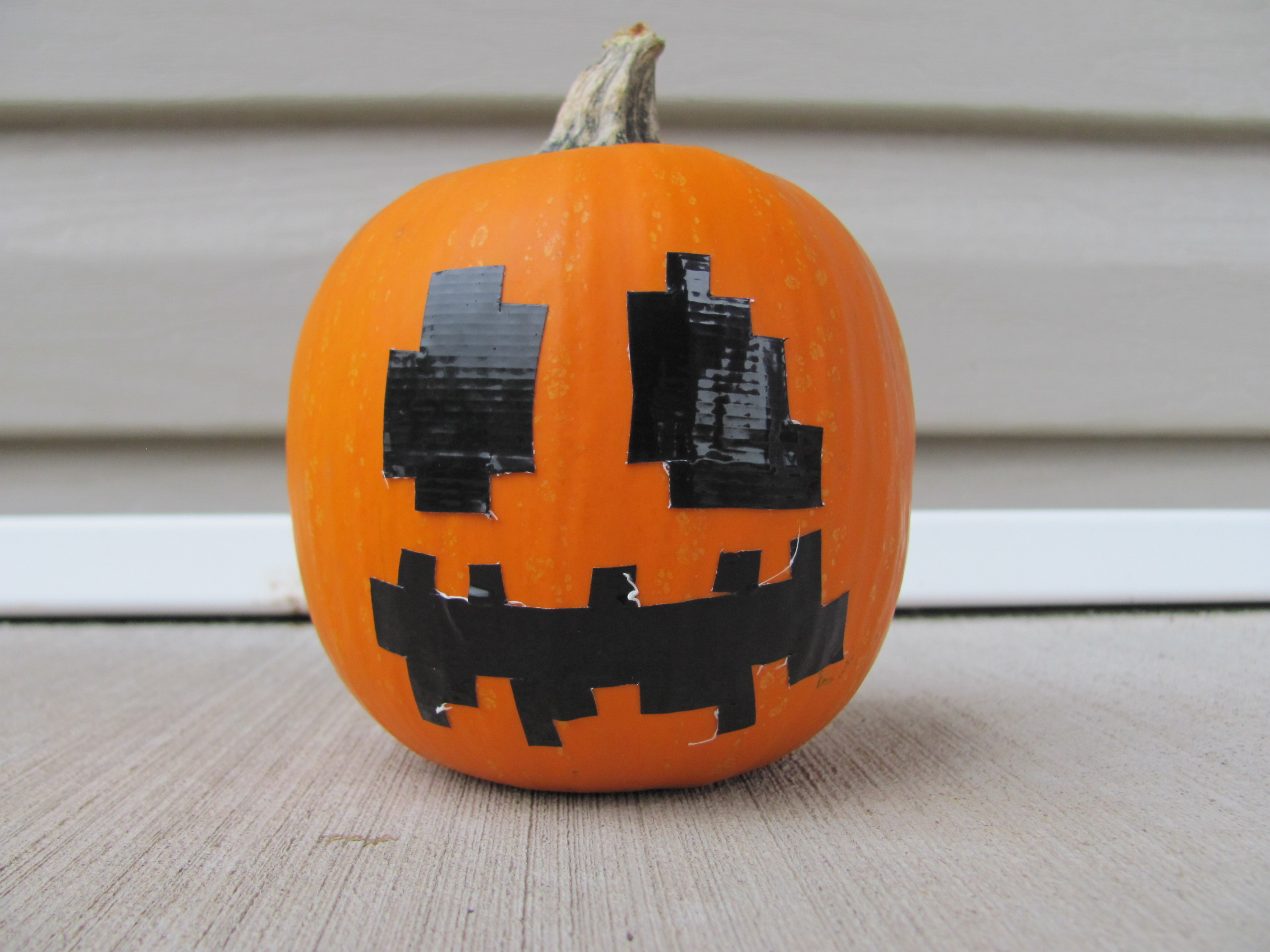 duct tape minecraft pumpkins diy