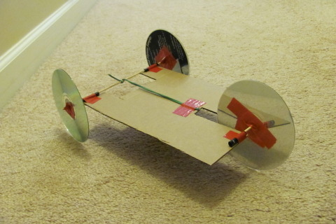 Rubber Band Racer Diy