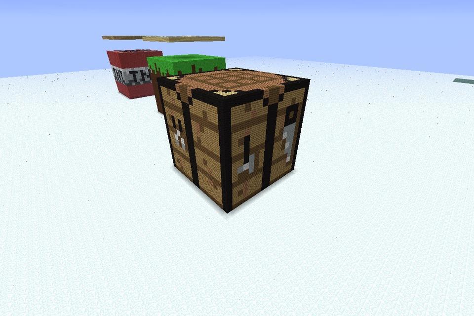 Giant Minecraft Crafting Table Block Diy
