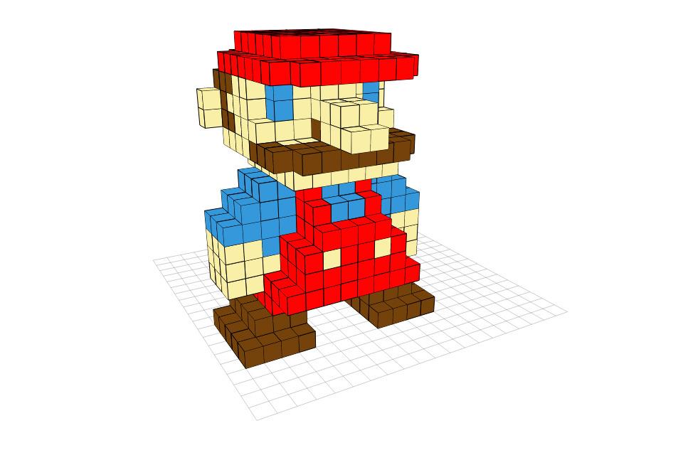8-bit Super Mario 3D - DIY