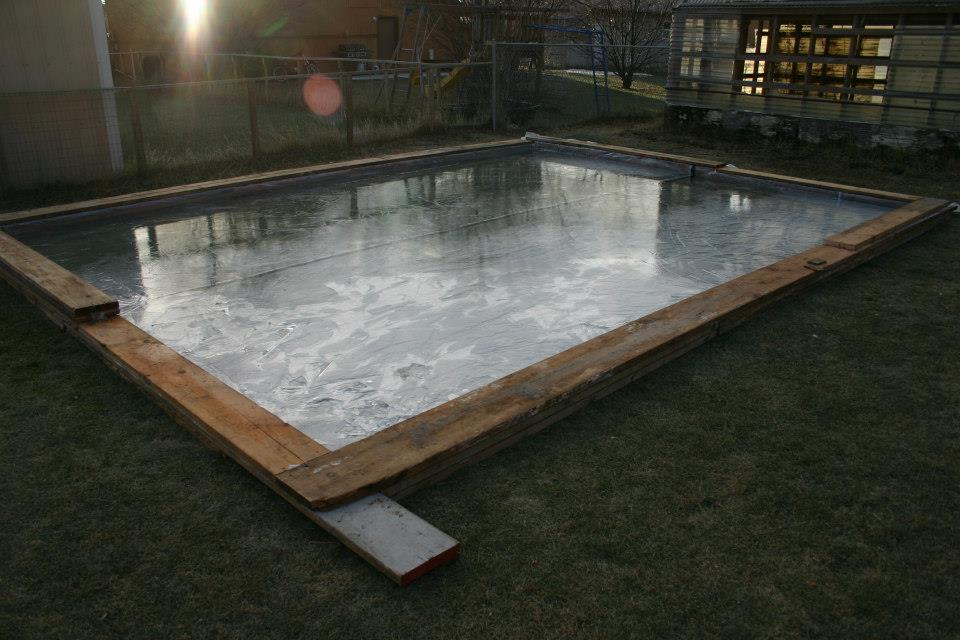 backyard ice rink diy