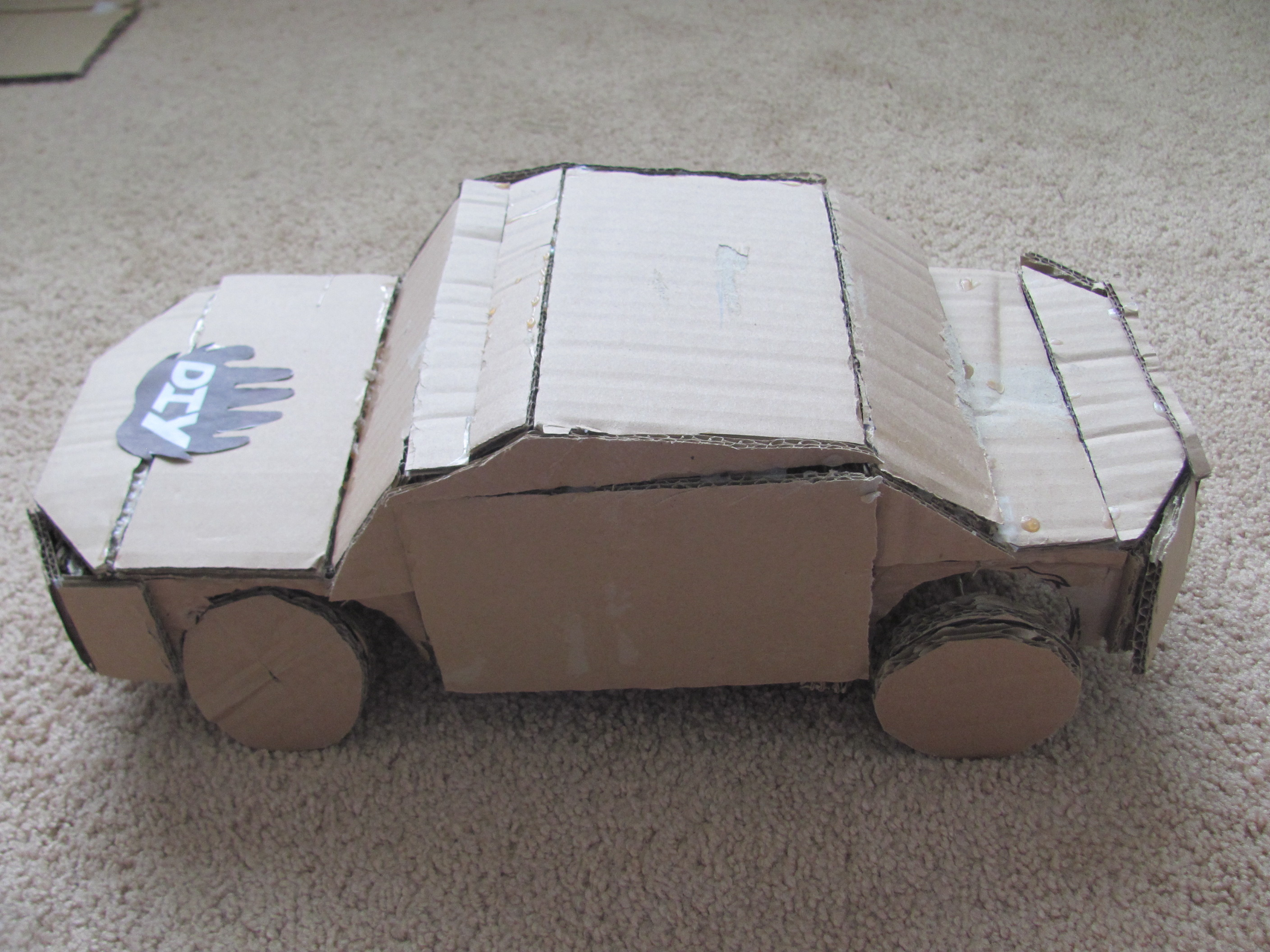 cardboard car diy. Black Bedroom Furniture Sets. Home Design Ideas