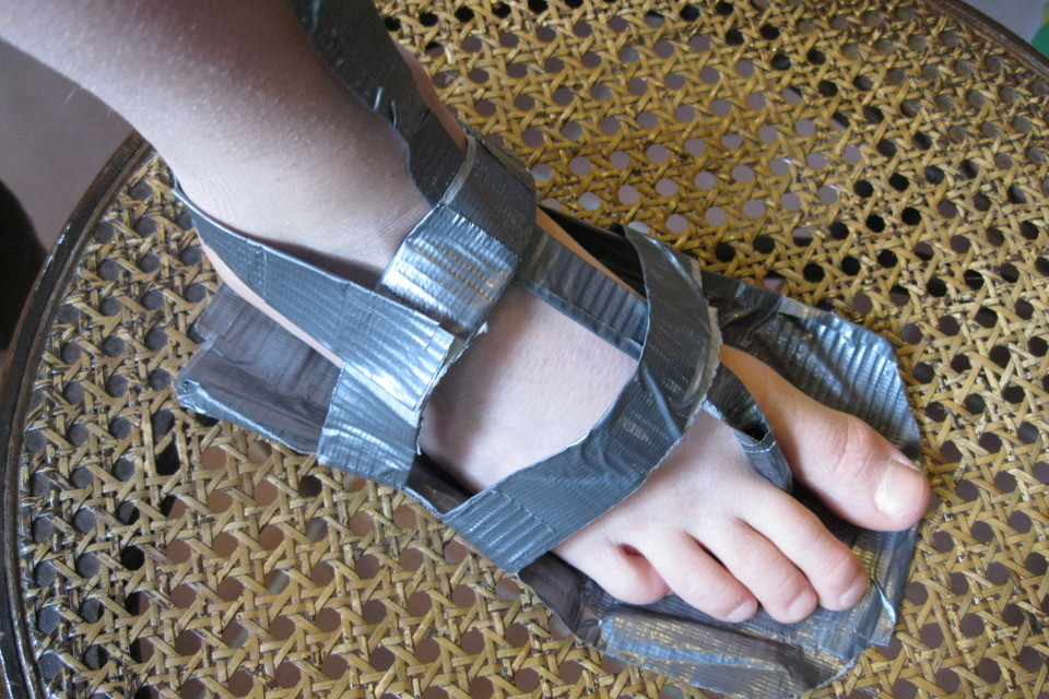 Duct Tape Sandals 3 13 Diy
