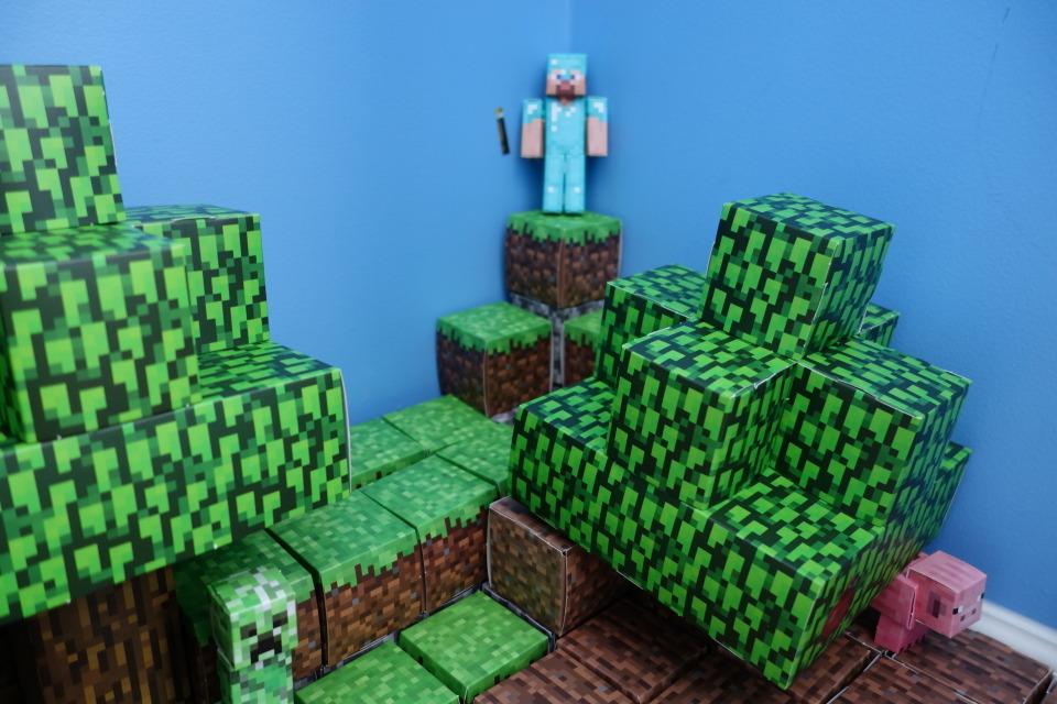 Minecraft Paper Craft Scene Diy