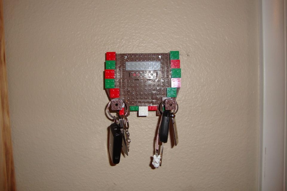 Lego Christmas Key Holder Diy