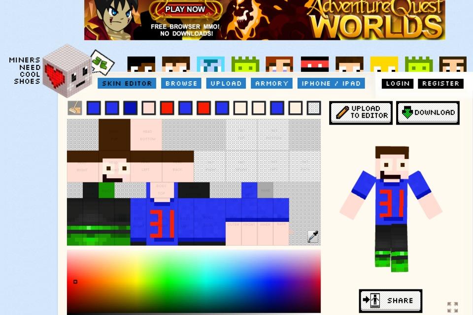 Minecraft Skin Editor - DIY