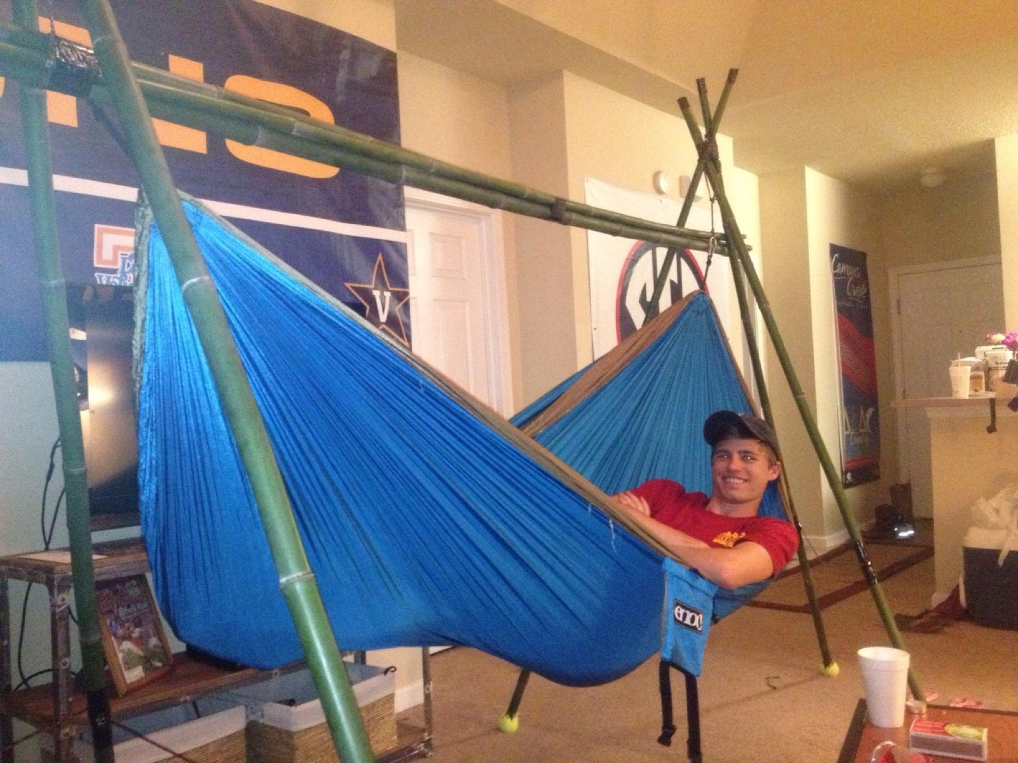 favorite 3 portable tripod bamboo hammock stand   diy  rh   diy org
