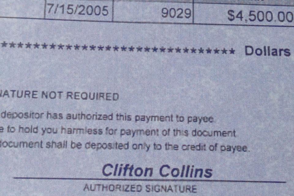 Fake check - DIY